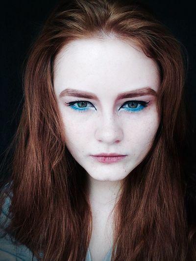 Just For Fun Ginger Redhead Taking Photos Green Eyes Makeup