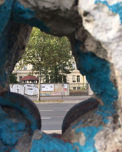 Berlin Wall looking through Focus On Foreground I Phone 6s City Life Low Angle View Vanishing Point