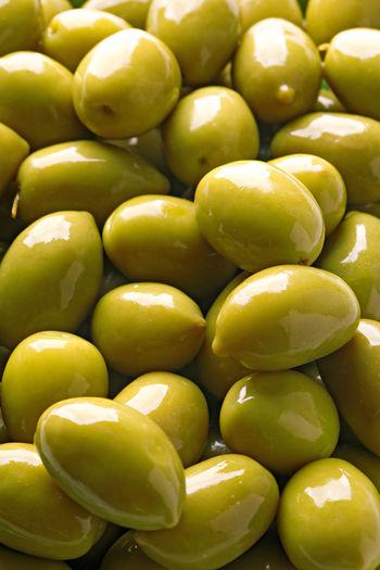 Full frame shot of green olives