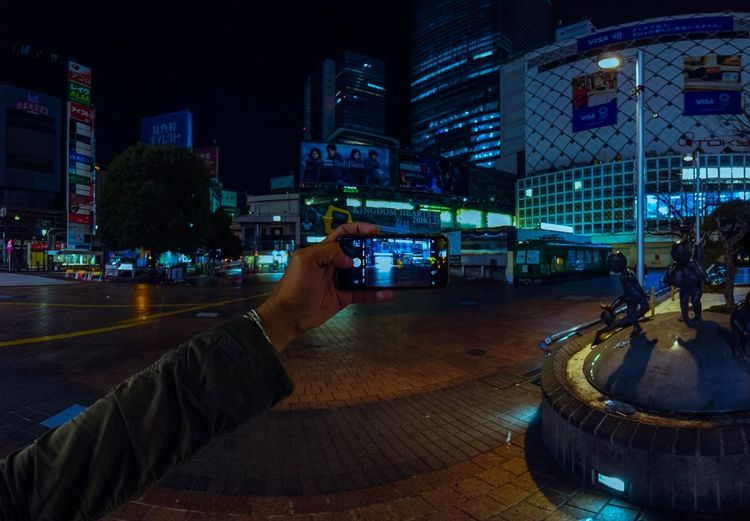Shibuyascapes Taking Photos Mobile Phone Smart Phone Photographer Nightlife Urban Shibuya Japan Ghost Town Alone Personal Perspective POV Night Midnight Tech Technology DJI OSMO POCKET Osmo Pocket Dji Tokyo Train Station Night Building Exterior Built Structure City Illuminated Street City Life Cityscape Humanity Meets Technology My Best Photo