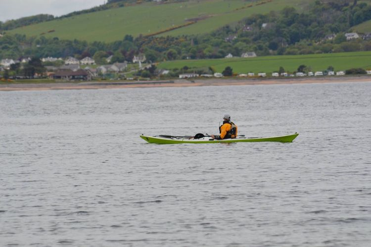 Real People One Person Nature Nautical Vessel Men Water Waterfront Leisure Activity Adventure Oar Kayak Transportation Lifestyles Scottish Highlands Scotland Fort George Moray Firth