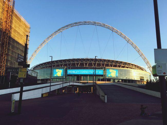 Clear Sky Modern Wembley Stadium Sport Arena Football London