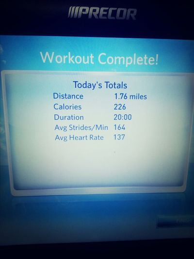 first cardio at