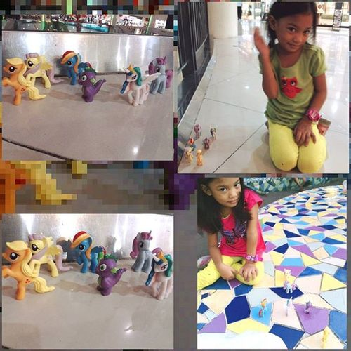 With her new friends... MyLittlePony Motheranddaughtertime Motheranddaughterbonding Motheranddaughterbondingtime