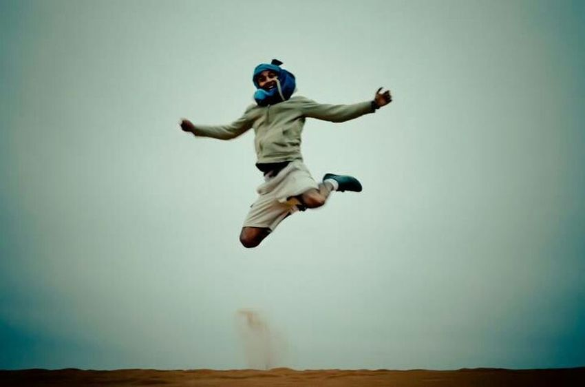 Happiness Jumping Funny Moroccan InstaMorocco Ouarzazate