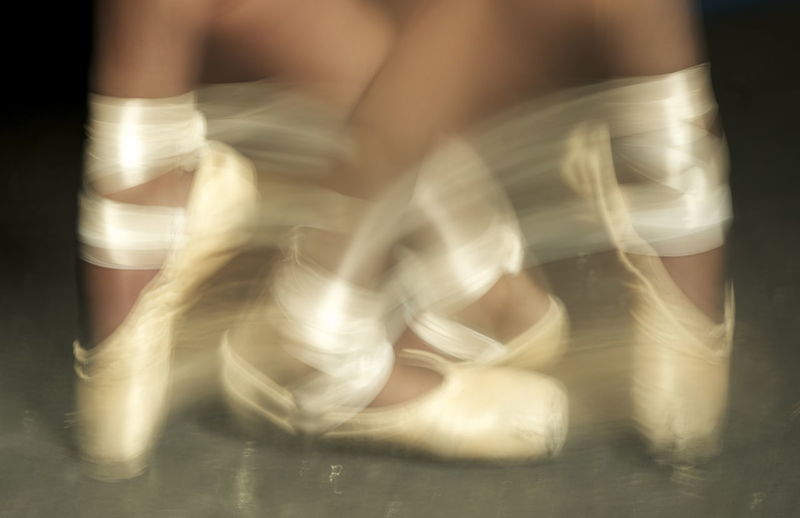 Art Ballet Ballet Dancer Blurred Motion Close-up Is It Real? Motion Strength Be. Ready.
