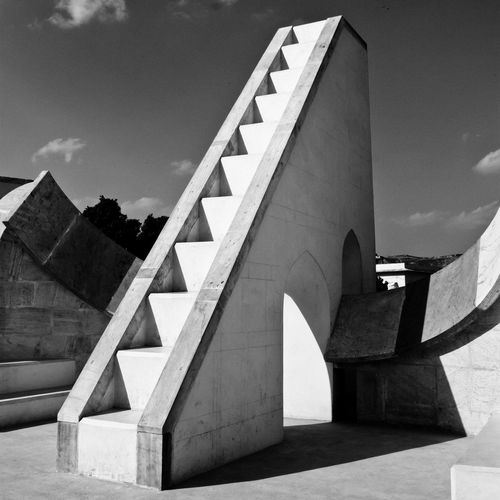 jantar mantar observatory - Jaipur Observatory Jaipur Jantar Mantar, Jaipur Built Structure Architecture Building Exterior Sky No People Day Nature Building Cloud - Sky Outdoors Water Concrete Bridge Staircase City Sunlight Modern Travel Destinations Bridge - Man Made Structure