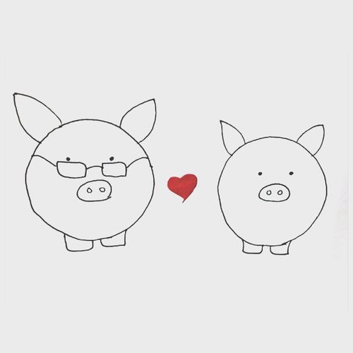 She has a room for me in her little piggy heart ❤ - ILoveYou.♡ KZH