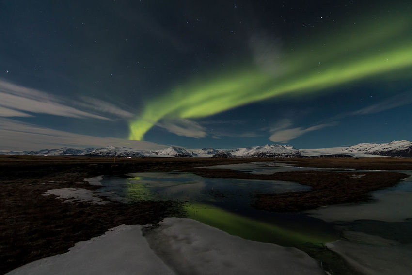 My dream of Nothern Lights Nothern Lights  Iceland Vatnajökull Nature Photography Astrophotography Aurora Borealis Travel Nature The Great Outdoors With Adobe EyeEm X Adobe - The Great Outdoors