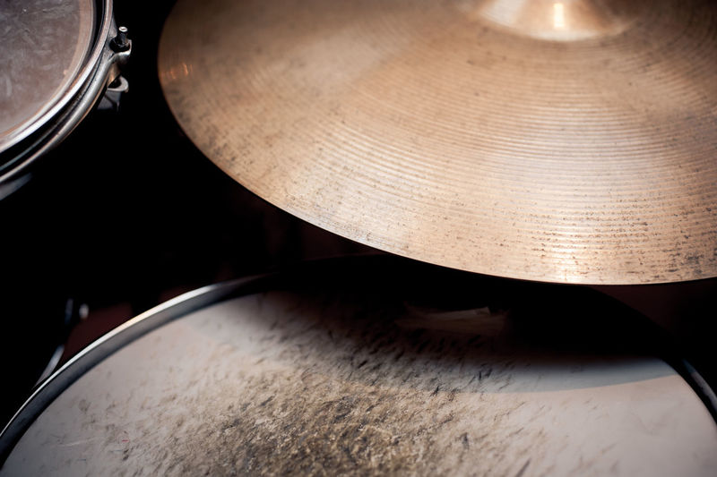 Close-Up Of Drum And Cymbal