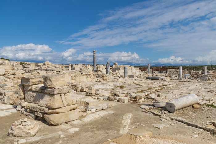 Ruins of the ancient city, Cyprus, Kourion Ancient Archeology Cyprus Cyprus. Kourion Episkopi Travel UNESCO World Heritage Site Ancient Civilization Architecture Cloud - Sky Day History Kourion Landmark Monument No People Outdoors Park Ruin Sky Spring Stone Travel Destinations Architecture Ancient