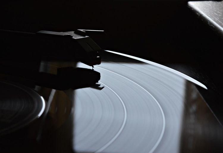 Close-up of gramophone