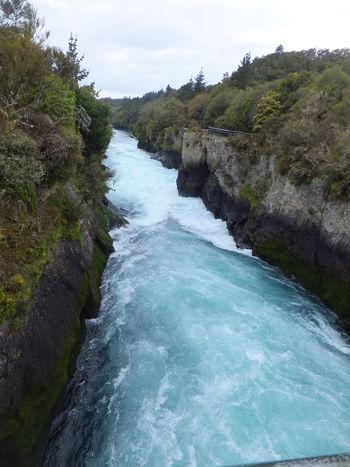 Water New Zealand Taupo River Waikato River Huka Falls