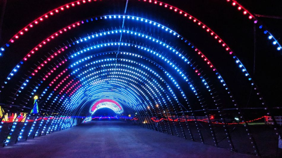 There is a light everywhere in the tunnel !! ;) Nightphotography Christmas Decoration New Year Celebration Lights Christmas Decoration Colors Of Christmas Santa Claus Illuminated Night The Way Forward Travel Destinations No People