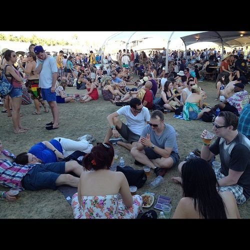 If you hang out in the shade long enough - you turn old... Coachella