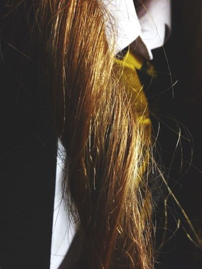 School Messing Around Friends Uniform Hair Pretty Twirling Close Up Random