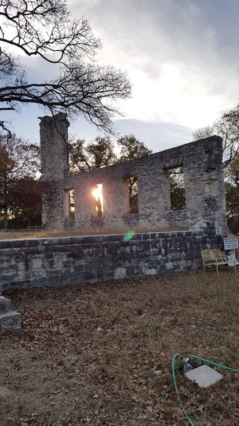 Old ruins of Salado College Sky No People Outdoors