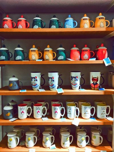 Large Group Of Objects Shelf Variation No People Choice Indoors  Teapot Pottery Day Art Is Everywhere