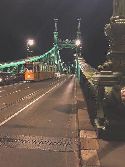 Illuminated Night Architecture Transportation Built Structure Building Exterior Adventures In The City City Street Bridge