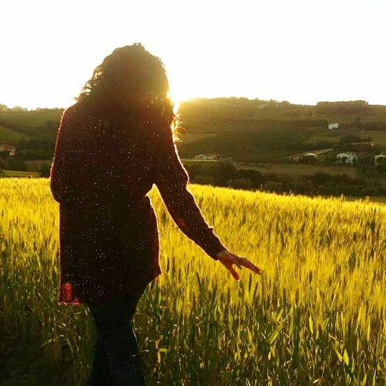Passeggiando per le campagne marchigiane Relaxing Enjoying Life Countryside Country Life Campagna Grano Fields Of Gold First Eyeem Photo