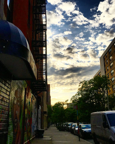 The Lower East Side at Dusk Architecture Building Exterior Built Structure City Cloud - Sky Day Dusk In The City Land Vehicle No People Outdoors Sky Sunlight Sunset The Way Forward Tree