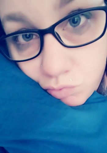 New Glasses No Make-up NOT CUTE!!! Tired Eyes Sick In Bed