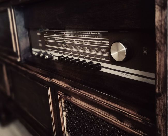 Radio Grundig Music Retro Styled No People Close-up Technology