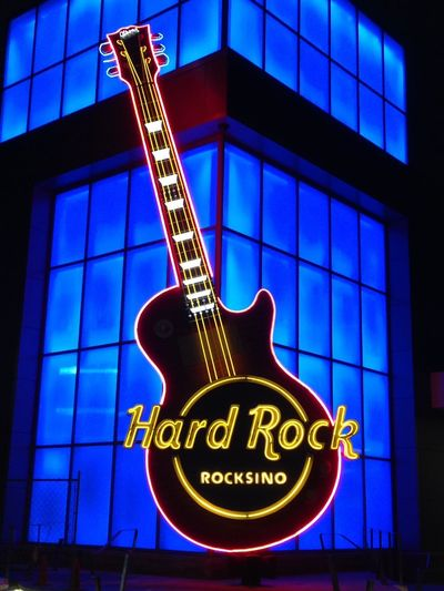 Guitar Neon HardRockCasino Northfield Nightphotography IPhoneography Iphonephotography IPhone Photography Rocksino