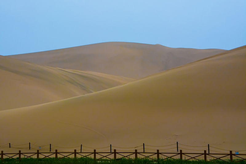 A part of Gobi desert Architecture Crescent Lake Desert Gobi Gobi Desert China Desert Beauty Mountain Nature Sky Texture