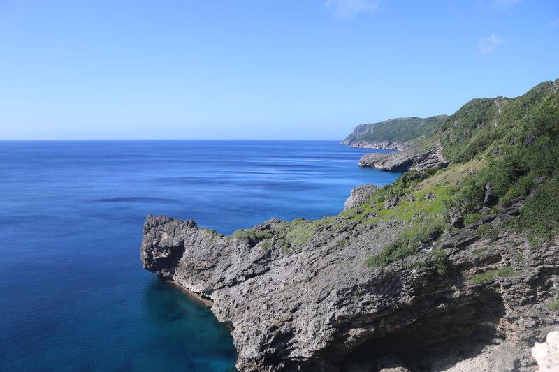 Blue Exploring Eyeem Philippines Horizon Over Water Mountain Rock Rock - Object Rock Formation Scenics Water