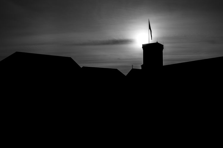 Silhouette Blackandwhite Politics And Government Silhouette Lighthouse Sky Architecture Building Exterior Built Structure Historic History Castle The Past Fortress Fort Fortified Wall Old Ruin