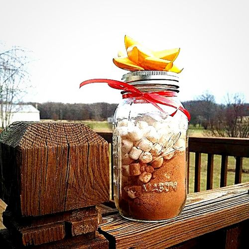 Mason Jar Marshmallows Preparate For Hot Chocolate Hot Chocolate Christmas Gift
