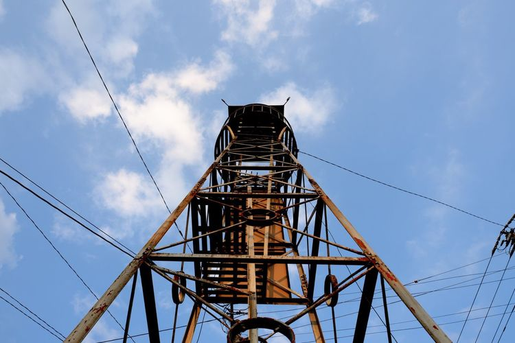 Old Tower Fire Lookout Tower Watchtower Sky Low Angle View Cloud - Sky Architecture Built Structure Nature Day No People