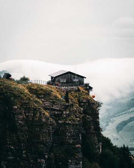 Ebenalp Cabin in Switzerland Cabin WoodLand Built Structure Architecture Building Exterior Sky Mountain Building Nature Tree Day Fog Plant No People House Cloud - Sky Outdoors Winter Tranquility Religion Tranquil Scene Swissalps Swiss Mountains Mountain Peak
