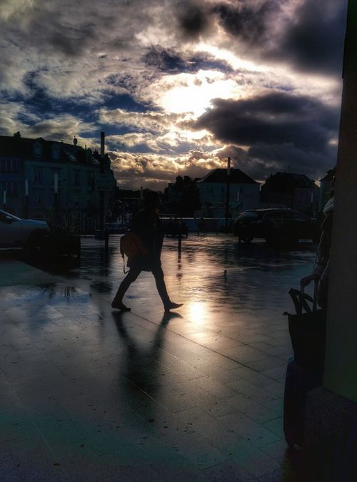 🌐 Laval 🌐 Nexus5 EyeEm LOST IN London Outdoors One Person Building Exterior Transportation Built Structure Architecture Walking Silhouette Men Real People Sunlight Sky Water Full Length People Sunset Day City Cloud - Sky Nature Lifestyles Women