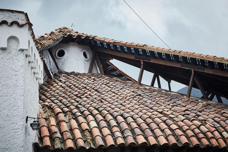 La Bruja Architecture Built Structure Roof Building Exterior Roof Tile Building Pattern House Architectural Detail Architecture_collection
