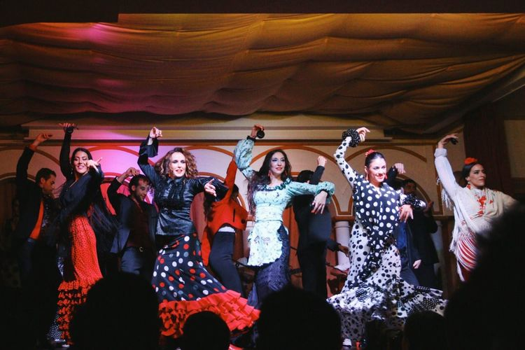 Young Women Young Adult Mid Adult Enjoyment Arts Culture And Entertainment Flamenco Dance Dancing Seville Stage Performance Performing Arts Event Traditional Clothing Women Women Around The World