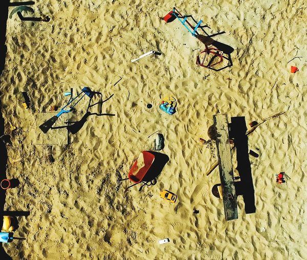 Beach Sand No People Day Outdoors Kindergarten Sandpit Fun Childhood Toys Sunny Drone  Dronephotography Drohne Aerial View Aerial Shot