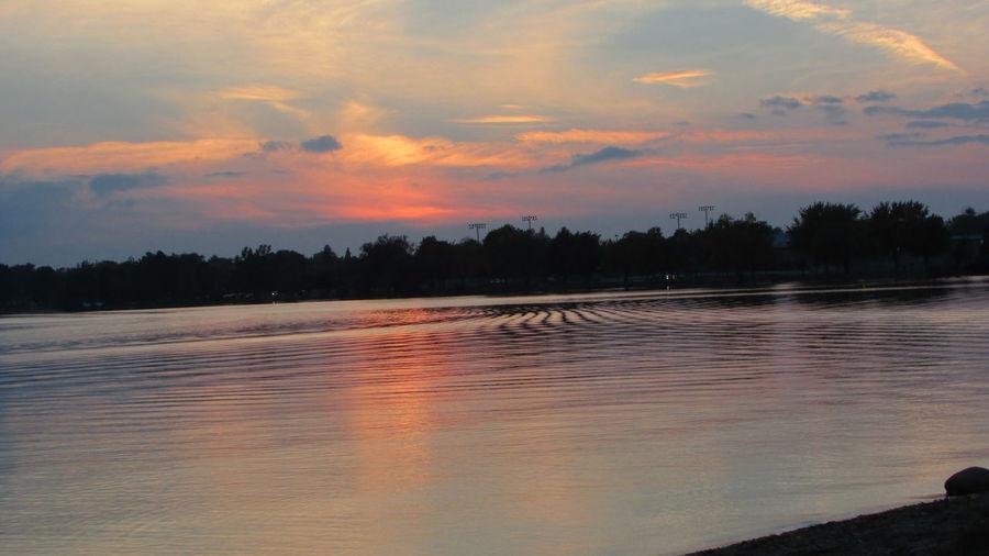 Dusk By The Lake Water Ripples Taking Photos Cadillac Sky Pretty Colours Reflections Lake Cadillac Pure Michigan