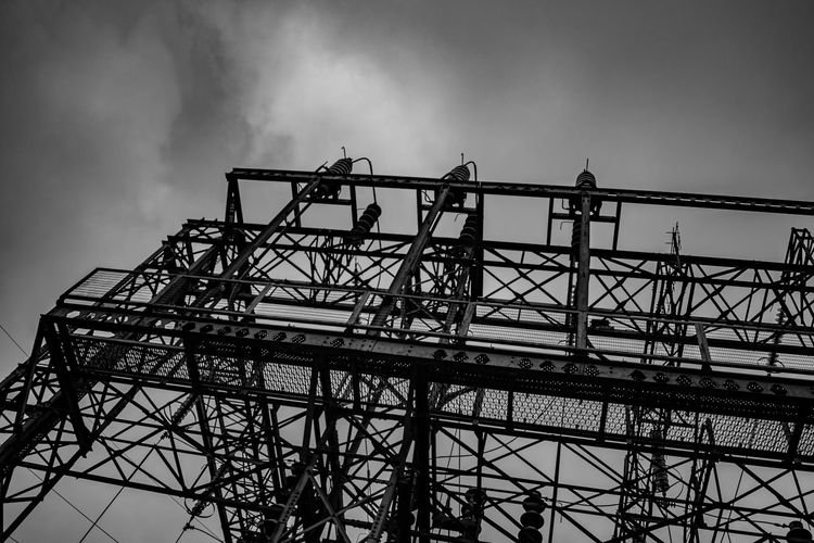 Nikon Architecture Building Exterior Built Structure Cloud - Sky Connection Construction Equipment Construction Industry Construction Site Day Development Dusk Eye4photography  Industry Low Angle View Metal Nature Nikonphotography No People Outdoors Overcast Silhouette Sky