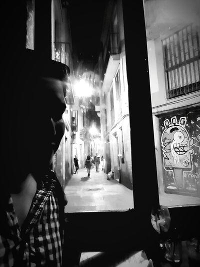 Catalan Noir City Crowd Men Women Arts Culture And Entertainment