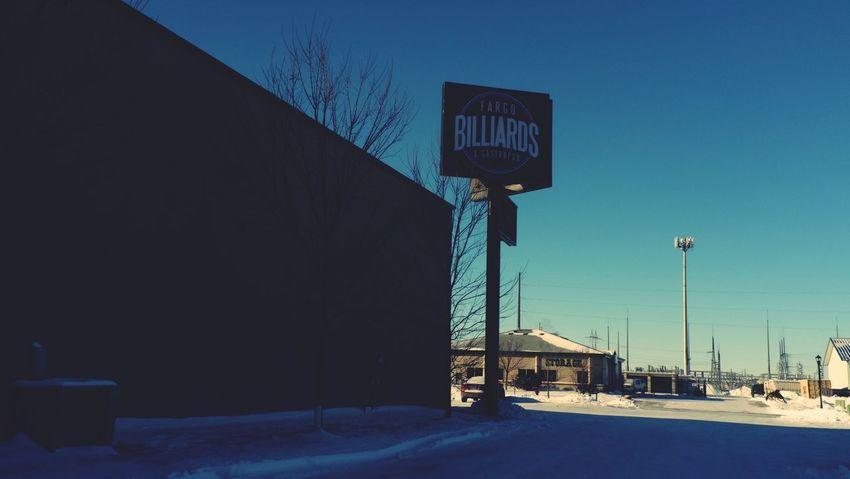 January 17, 2016 QVHoughPhoto FujiFilmX100 Fargo Northdakota Fargobilliards Winter Snow Billiards