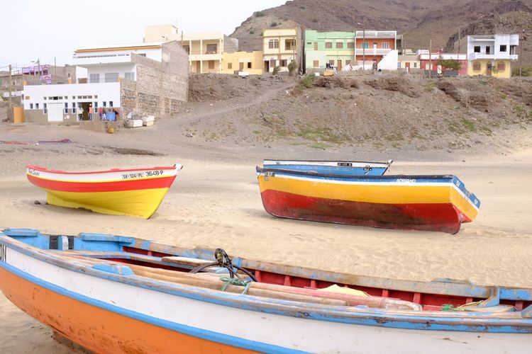 Capverde City Water Nautical Vessel Beach Sea Sand Sky Building Exterior Architecture Fishing Boat Boat