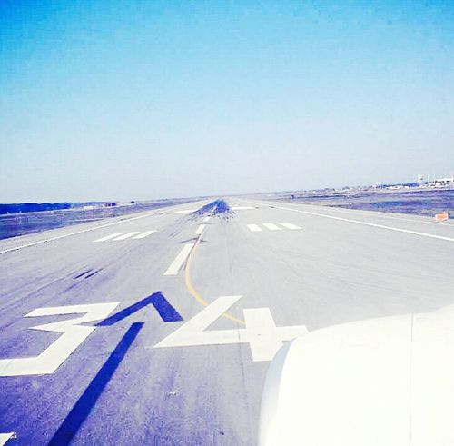 Bestmoment TakeOff Copy Space Clear Sky Blue No People Day Airport Runway Outdoors Airport Airplane Nature Beautiful Day Sunny Day Fly Enjoying The View EyeEm Best Shots