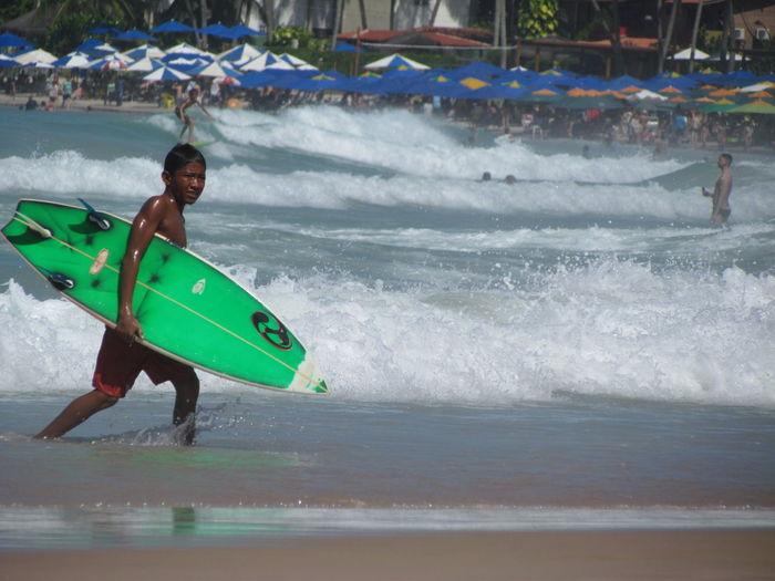 Local groomer of Porto de Galinhas. Brazil Groomer Sea Splashing Sport Surf Water