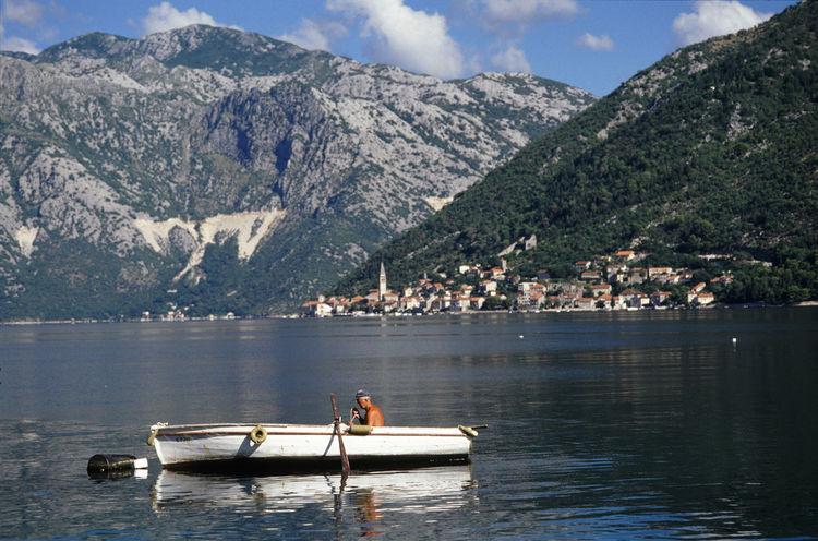 Adriatic Sea Bay Of Kotor Boat Boka Kotorska Fiord Fisherman Kotor Kotorska Kotorska Bay Montenegro Travel Destinations