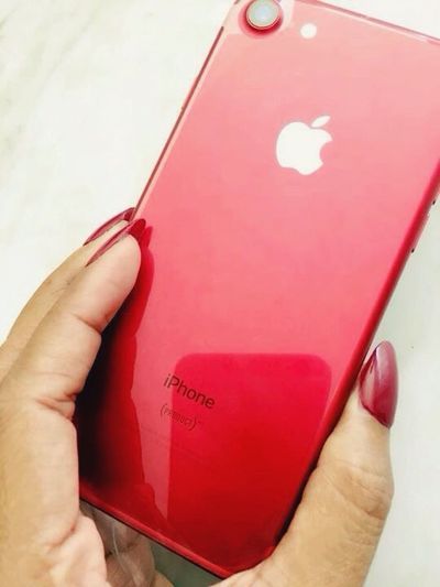 My new iphone7red Belatedbirthdaygift Iphone7red Limitededition RedProduct Redbaby Redissexy