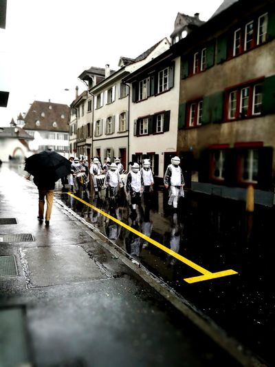 Fasnacht 2017 Cortège Rain Carneval Basel, Switzerland