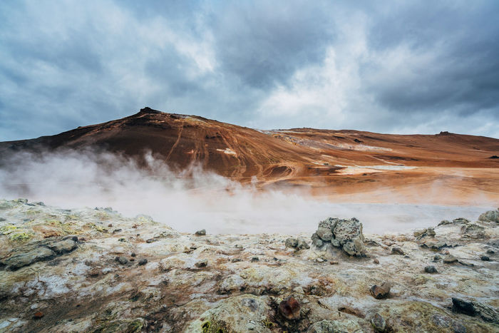 Beauty Day Iceland Iceland_collection Nature Outdoors Overcast Sand Storm Cloud Sulfur  Sulfur Gas Fresh On Market 2016