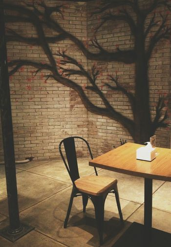The Ambience Japanese Restaurant Empty Chair Sakura Trees Nongkrong Di Bandung